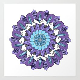 Round And Round - Purple Version Art Print