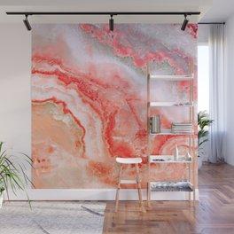 Luxury LIVING CORAL Agate Marble Geode Gem Wall Mural
