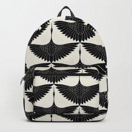 CRANE DESIGN - pattern - Black and White Backpack