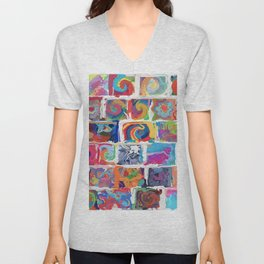 480 - Abstract collection Unisex V-Neck