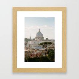 St. Peter's Basilica at Sunset Framed Art Print