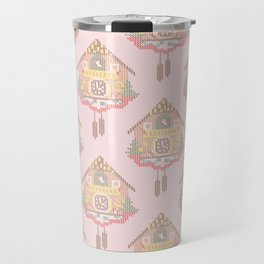 Cuckoo Clock Cross Stitch Pattern Travel Mug