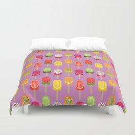 Fruit popsicles - pink version Duvet Cover