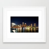 boston Framed Art Prints featuring Boston by Bust it Away Photography