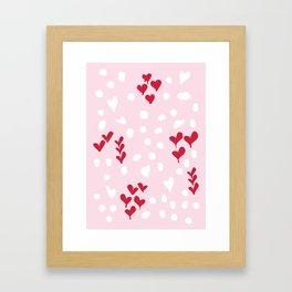 giving hearts gving hope: animal print Framed Art Print