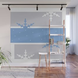 A hint of Christmas (Blue & Grey) Wall Mural