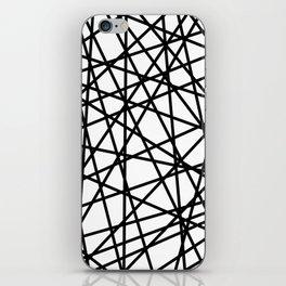 Lazer Dance Black on White iPhone Skin