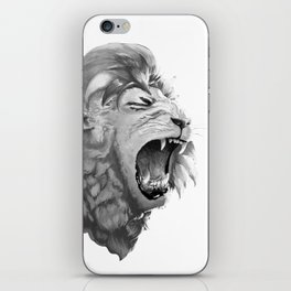 Grayscale Lion iPhone Skin