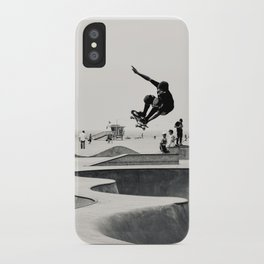 Skateboarding Print Venice Beach Skate Park LA iPhone Case