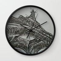 eiffel Wall Clocks featuring Eiffel by Esteban Garza