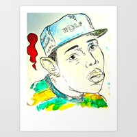 tyler the creator Art Prints featuring Tyler the Creator by JDowicz