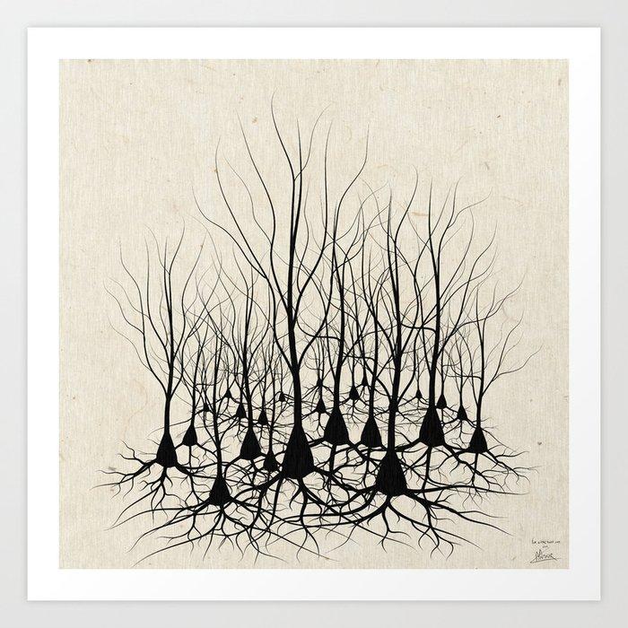 Art Inspired by Neuroscience - RobotSpaceBrain |Neurons Art