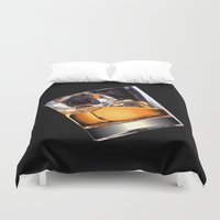 whisky Duvet Covers featuring Whisky on the Rocks by FantasyArtDesigns