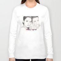 miley Long Sleeve T-shirts featuring miley vs. miley by als3