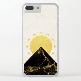 Golden sunrise in Montenegro Clear iPhone Case
