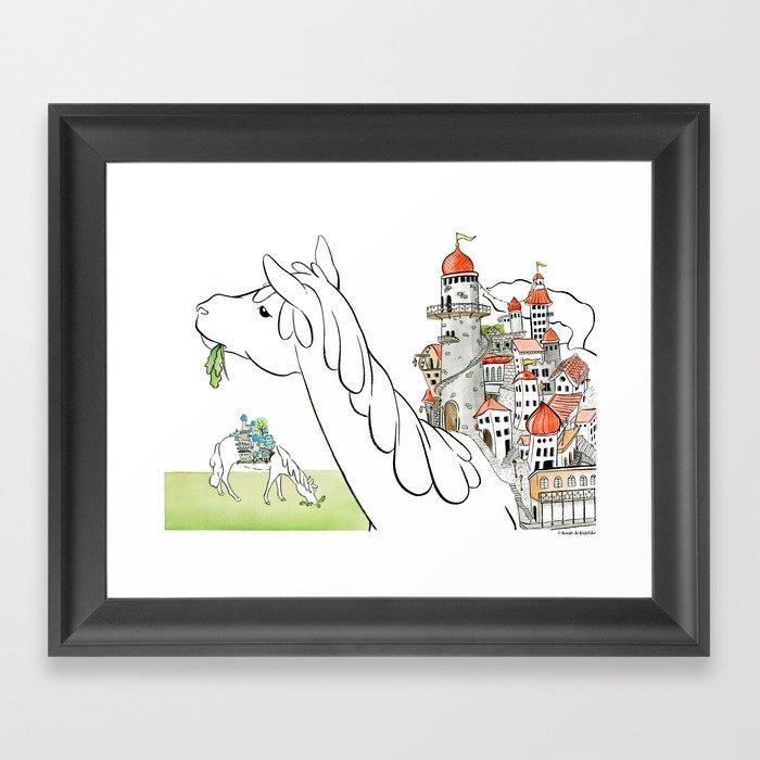 OneHorseTown Framed Art Print