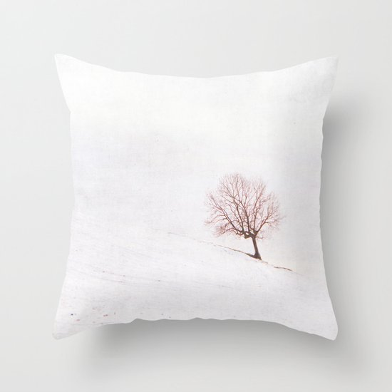 Lone Tree {Textured}  Throw Pillow