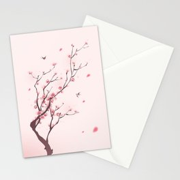 Oriental cherry blossom in spring 003 Stationery Cards