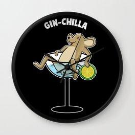 Gin chilla chinchilla in cocktail Wall Clock