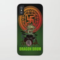 drum iPhone & iPod Cases featuring Dragon drum by kuuma