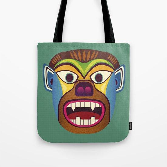 Gorilla ethnic mask Tote Bag