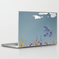 pigeon Laptop & iPad Skins featuring pigeon by Shelby Claire