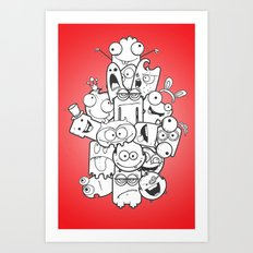 Cute Monsters Art Print