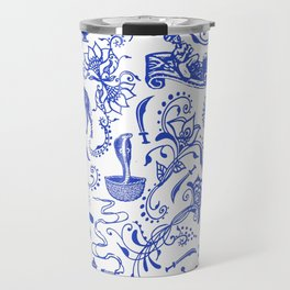 Arabian Nights // China Blue Travel Mug