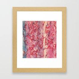 Spring sloughing summary Framed Art Print