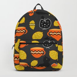 Cats, lemons and teacups Backpack