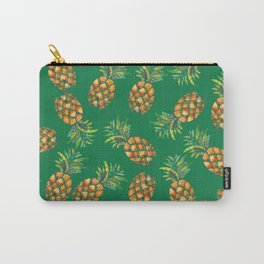 Pineapple Pattern Green Carry-All Pouch