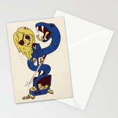 California Mountain Snake VS Black Mamba Stationery Cards