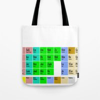 bible Tote Bags featuring PERIODIC BIBLE by MR TEE