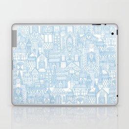 gingerbread town blue Laptop & iPad Skin