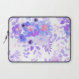 Lilac lavender violet pink watercolor elegant floral Laptop Sleeve