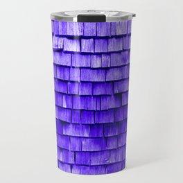 wooden wall purple Travel Mug