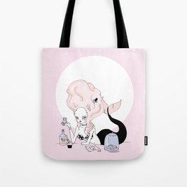 Mermaid Marie Antoinette Tote Bag