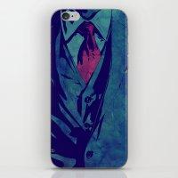 gentleman iPhone & iPod Skins featuring Gentleman by Giuseppe Cristiano
