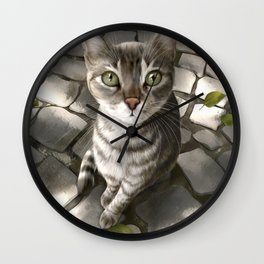 A Cat That I Once Knew Wall Clock