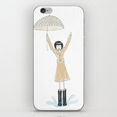 Puddle jumping iPhone & iPod Skin