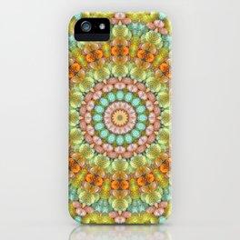 Pastel Jellybean Mandala iPhone Case