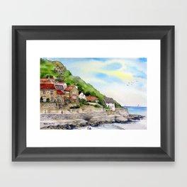 Summer in Runswick Bay Framed Art Print