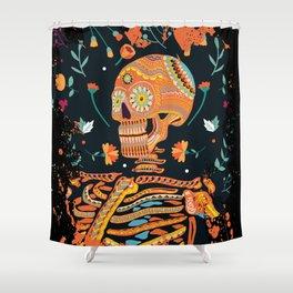 Day of the Dead Skeleton – Dia de los muertos – sugar skull – cool design Shower Curtain