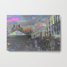 Arrived and built upon, an accumulation of antics. Metal Print
