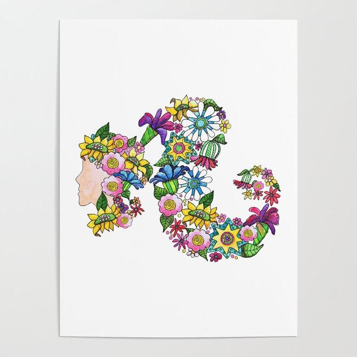 Blooming Ponytail Poster
