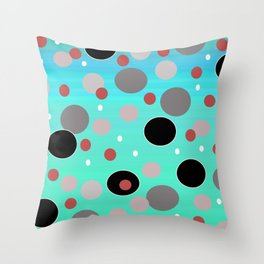Polka Dotty: Psychedelic Throw Pillow