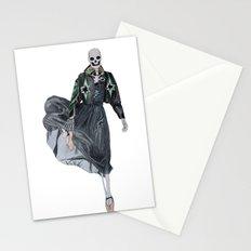 leather & ballet skeleton Stationery Cards