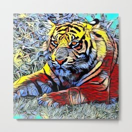 Color Kick - Tiger 2 Metal Print