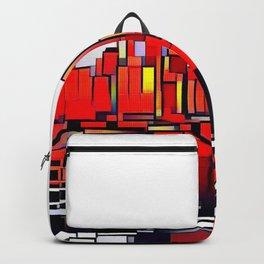 Mondrian Mosaic of Manhattan in Orange and Yellow Backpack