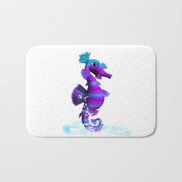 Seahorse in splashing Water Bath Mat